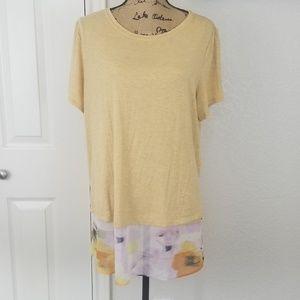 LOGO Lori Goldstein tunic sz XL